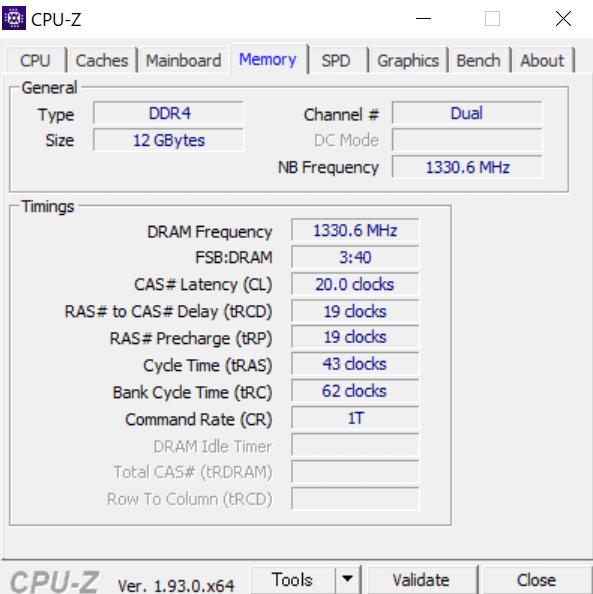 Lenovo IdeaPad Slim 350(AMD Ryzen 3 4300Uモデル)デュアルチャネル動作確認